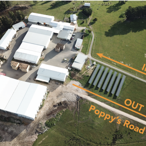 Poppy's Road aerial view