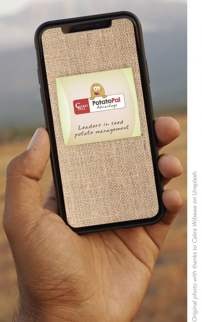 PotatoPal Advantage splash screen on iPhone